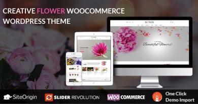 Creative Flower Woocommerce WordPress Theme 4