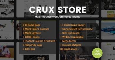 CruxStore - Multi-Purpose WooCommerce WordPress Theme 2