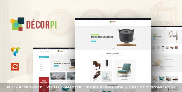 DecorPi - Responsive Multipurpose WordPress WooCommerce Theme 1