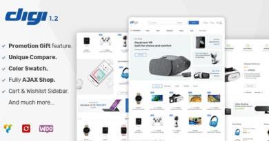 Digi - Electronics Store WooCommerce Theme 3