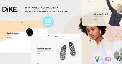 Dike - Minimal and Modern WooCommerce AJAX Theme 3