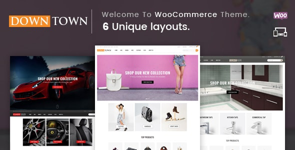 Down Town - Multipurpose WooCommerce Theme 1
