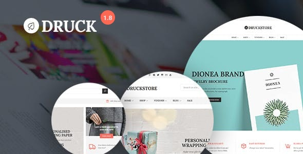 Druck - Print shop WooCommerce WordPress Theme 1