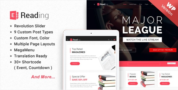 E-Reading Book Store WordPress Theme 8