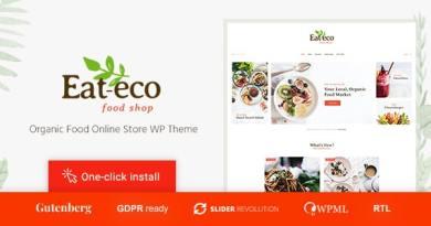 Eat Eco - Healthy & Organic Food Shop WooCommerce Theme 3