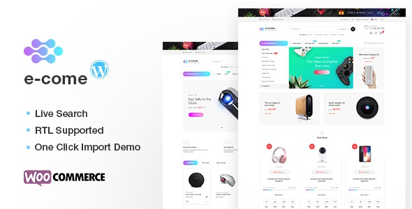 Ecome - Electronics Store WooCommerce Theme - RTL Supported 3