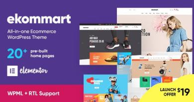 ekommart - All-in-one eCommerce WordPress Theme 3