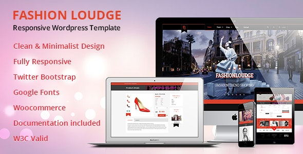 Fashion Loudge - WordPress Theme 1