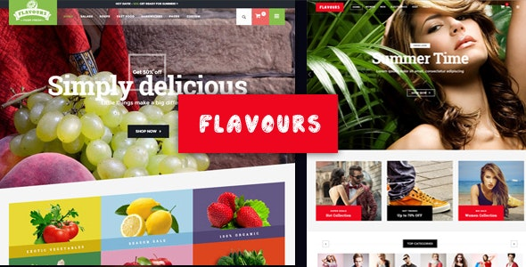 Flavours Fruit Store, Organic Food Shop WooCommerce Theme 1
