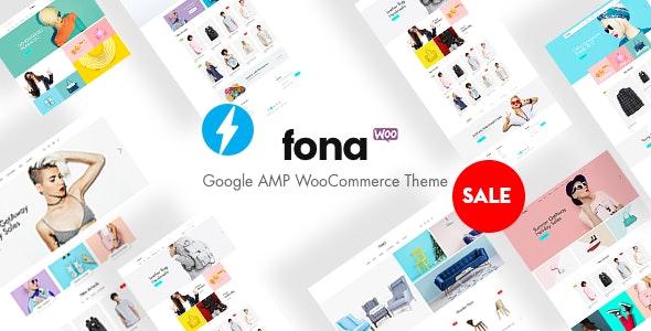 Fona - Responsive Google AMP WooCommerce Theme 1