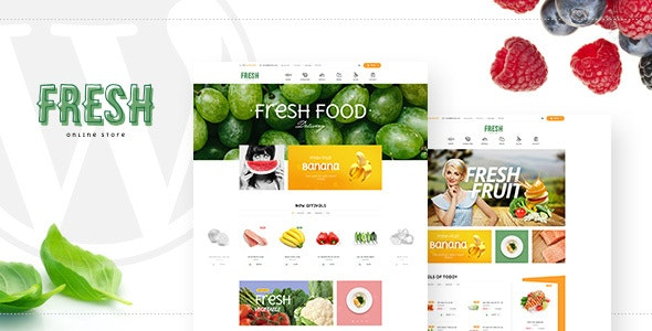 Fresh - Food and Restaurant WooCommerce WordPress Theme 1