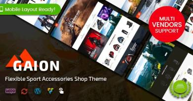 Gaion - Sport Accessories Shop WordPress WooCommerce Theme (Mobile Layout Ready) 4