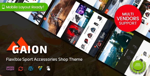 Gaion - Sport Accessories Shop WordPress WooCommerce Theme (Mobile Layout Ready) 1