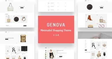 Genova - Minimalist AJAX WooCommerce WordPress Theme 2