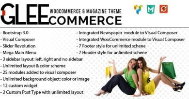 GleeCommerce - Multiconcept Woo and Magazine Theme 2