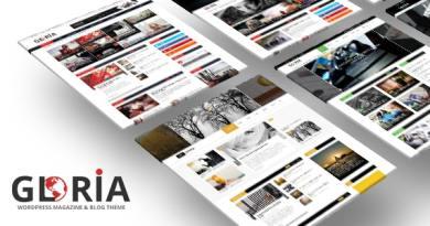 Gloria - Responsive eCommerce News Magazine Newspaper WordPress Theme 2