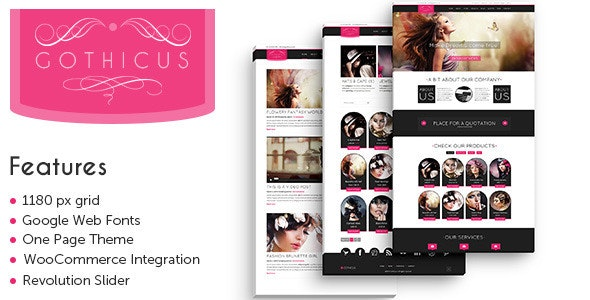 Gothicus - WordPress Shop 1