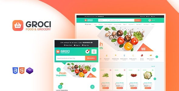 Groci - Organic Food and Grocery Market WordPress Theme 3
