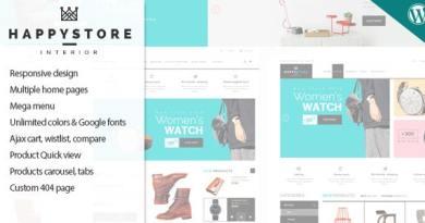 HappyStore - Responsive WordPress WooCommerce Theme 3