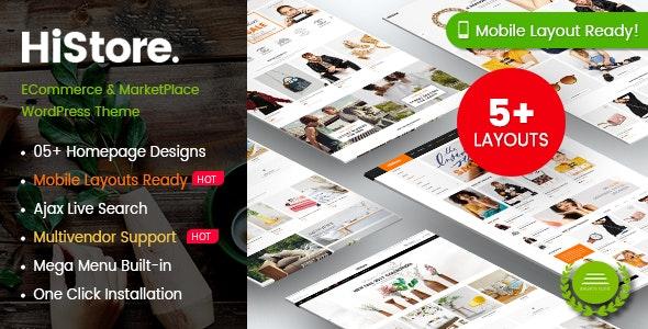 HiStore - Fashion Shop, Furniture Store eCommerce MarketPlace WordPress Theme (Mobile Layouts Ready) 1