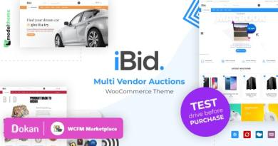 iBid - Multi Vendor Auctions WooCommerce Theme 4