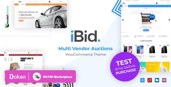 iBid - Multi Vendor Auctions WooCommerce Theme 1