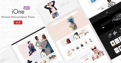 iOne - Minimal Responsive WooCommerce Theme 2
