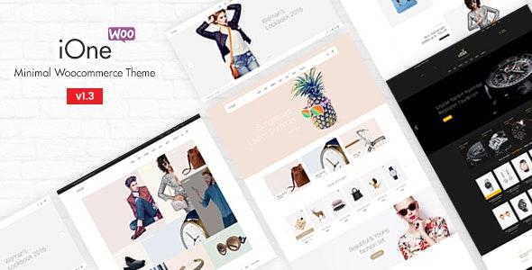 iOne - Minimal Responsive WooCommerce Theme 1
