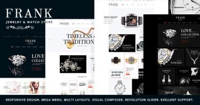 Jewelry & Watches Online Store WordPress Theme 4