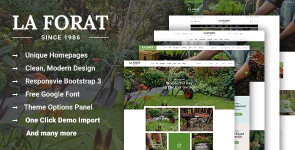 LaForat - Gardening and Landscaping WordPress Theme 1