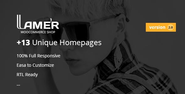 Lamer Fashion - WooCommerce WordPress Theme 1