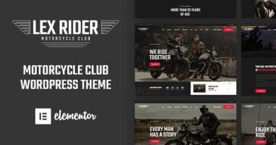 LexRider - Motorcycle Club WordPress Theme 3