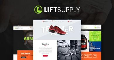 LiftSupply - Creative Single Product WooCommerce WordPress theme 2