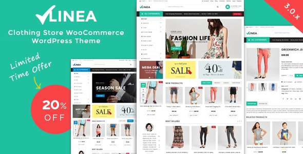 Linea - Clothing Store WooCommerce WordPress Theme 1
