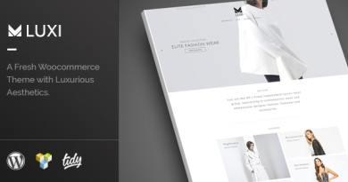 Luxi - Luxury Elegant WooCommerce WordPress Theme 2