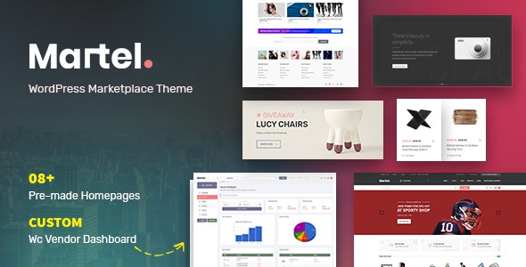 Martel - Modern eCommerce Marketplace WordPress Theme 1