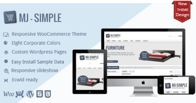 MJ Simple - Responsive WooCommerce theme 2