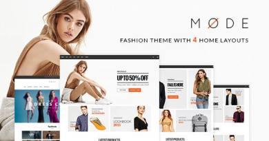 Mode - Modern Fashion WooCommerce WordPress Theme 2