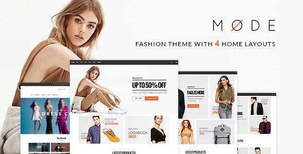 Mode - Modern Fashion WooCommerce WordPress Theme 1