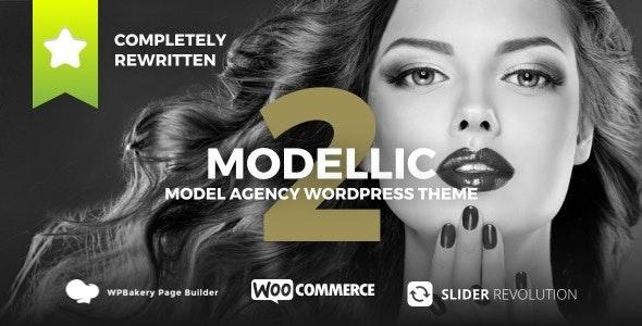 Modellic - WooCommerce & Booking Model Agency WordPress Theme 4