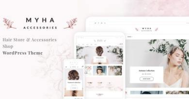Myha - Accessories Store & Hair Shop WordPress theme 2