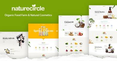NatureCircle - Organic Theme for WooCommerce WordPress 3
