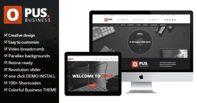 Opus Business - Multipurpose Business WordPress Theme 3