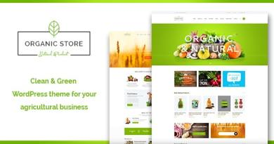 Organic Store | Eco Products Shop WordPress Theme + RTL 3