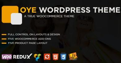 OYE - WooCommerce Responsive WordPress Theme 2