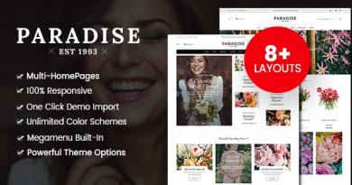 Paradise - Flower Shop WordPress WooCommerce Theme (8+ Homepages Ready) 2