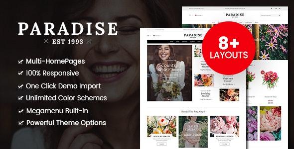 Paradise - Flower Shop WordPress WooCommerce Theme (8+ Homepages Ready) 8