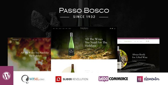 Passo Bosco - Wine & Vineyard WordPress Theme 1