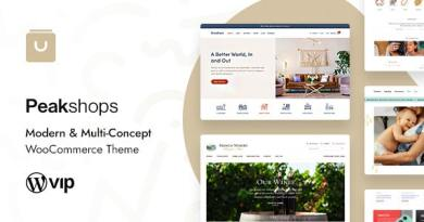 PeakShops - Modern & Multi-Concept WooCommerce Theme 2