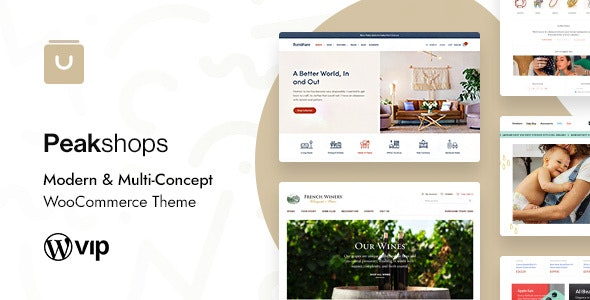 PeakShops - Modern & Multi-Concept WooCommerce Theme 3